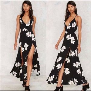 Nasty gal floral maxi dress
